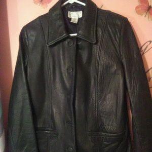 Petite Sophisticate Genuine Leather Jacket